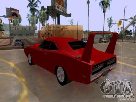 Dodge Charger Daytona 440 para GTA San Andreas esquerda vista