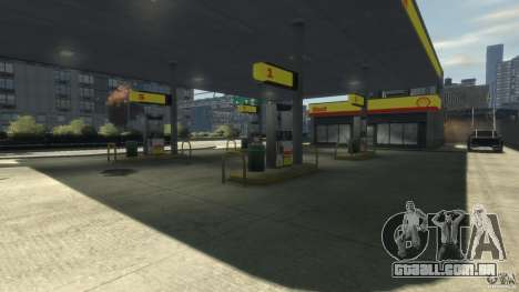 Shell Petrol Station para GTA 4 terceira tela