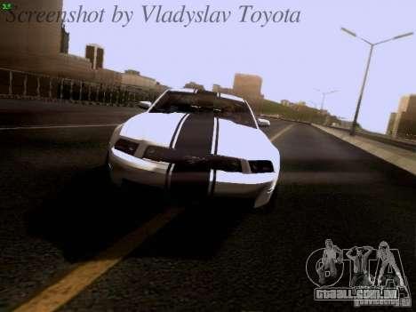 Ford Mustang GT 2011 para GTA San Andreas vista inferior