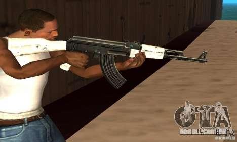 AK47 de neve (neve Ak47) para GTA San Andreas terceira tela