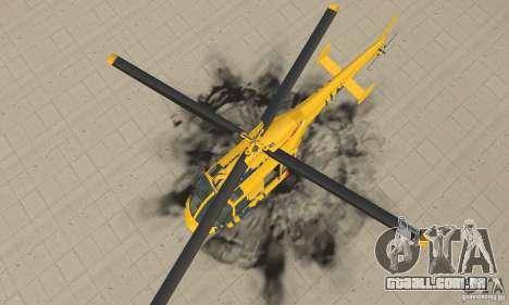 O helicóptero de turismo de gta 4 para GTA San Andreas vista direita