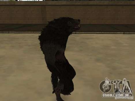 Werewolf from The Elder Scrolls 5 para GTA San Andreas segunda tela