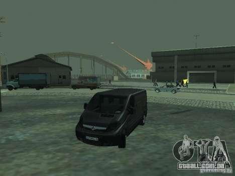 Vauxhall Vivaro v0.1 para GTA San Andreas vista inferior