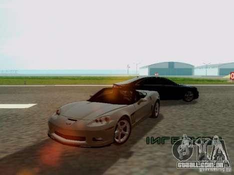Chevrolet Corvette C6 GS Convertible 2012 para GTA San Andreas esquerda vista