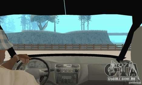 Mitsubishi Galant para GTA San Andreas vista interior