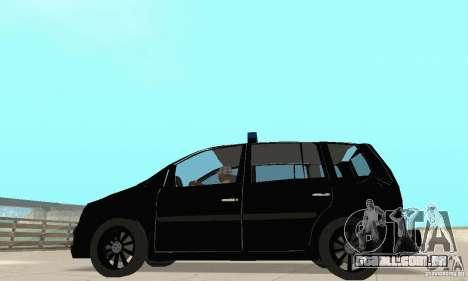 Volkswagen Touran 2006 Police para GTA San Andreas vista direita