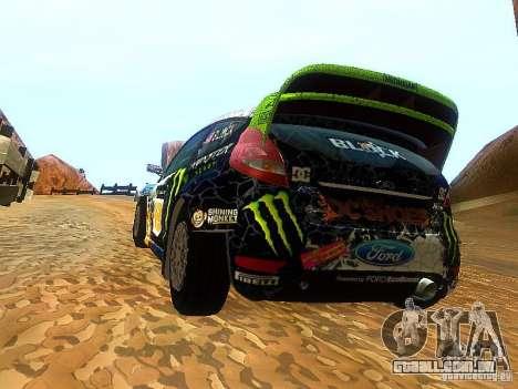 Ford Fiesta RS WRC 2012 para GTA San Andreas traseira esquerda vista
