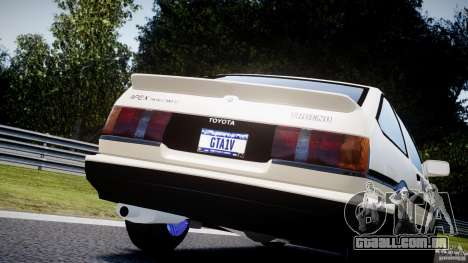 Toyota AE86 TRUENO Initial D para GTA 4 vista lateral