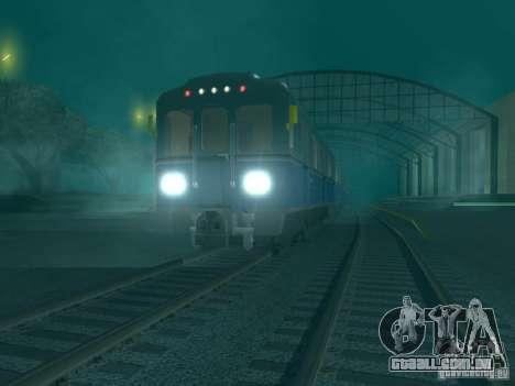 Metro e para GTA San Andreas traseira esquerda vista