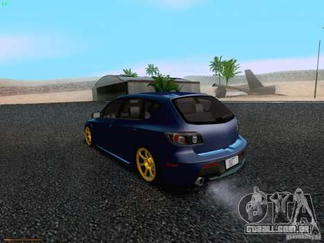 Mazda Speed 3 para GTA San Andreas vista direita