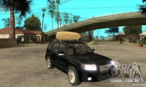 Subaru Forester 2005 para GTA San Andreas vista traseira