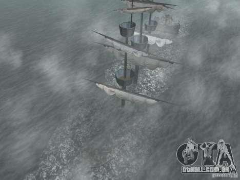 Navio pirata para GTA San Andreas por diante tela