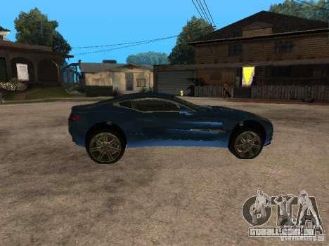 Aston Martin One77 para GTA San Andreas esquerda vista
