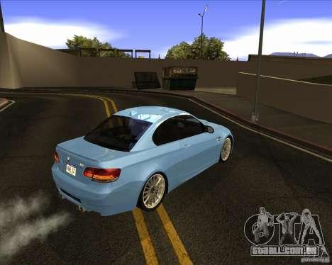 BMW M3 Convertible 2008 para GTA San Andreas vista direita