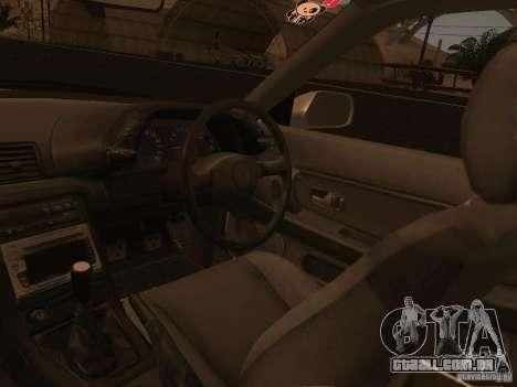 Nissan Skyline GTS R32 JDM para GTA San Andreas vista inferior