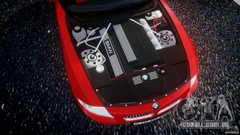 BMW Z4 Roadster 2007 i3.0 Final para GTA 4 vista de volta
