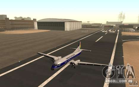 YS-11 para GTA San Andreas traseira esquerda vista