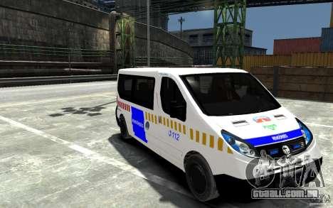 Opel Vivaro Hungarian Police Van para GTA 4 vista de volta