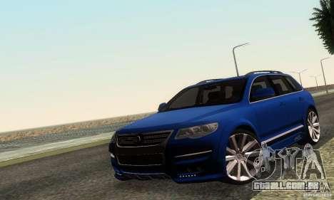 VolksWagen Touareg R50 JE Design Tuning para GTA San Andreas esquerda vista