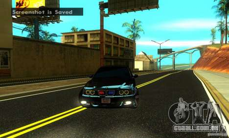 BMW M5 E39 2003 para GTA San Andreas vista traseira