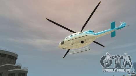 NYPD Bell 412 EP para GTA 4 vista de volta
