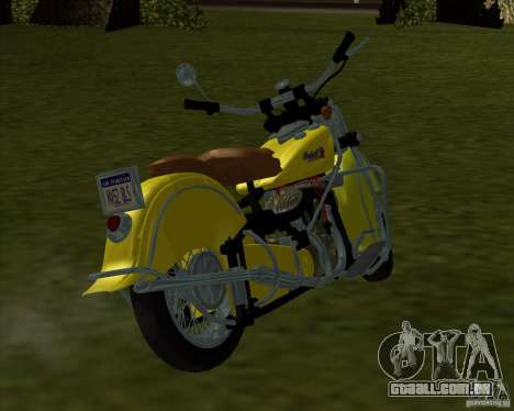 Indian Chief 1948 para GTA San Andreas esquerda vista
