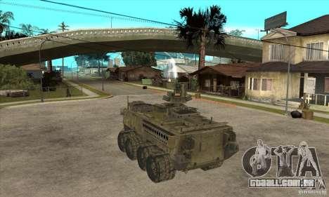 Stryker CDMW2 para GTA San Andreas traseira esquerda vista