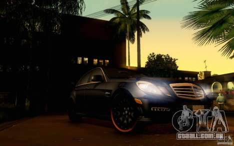 Mercedes Benz E63 DUB para GTA San Andreas vista inferior