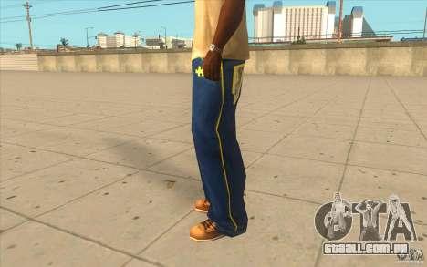Karl Kan Puzzle Jeans para GTA San Andreas segunda tela