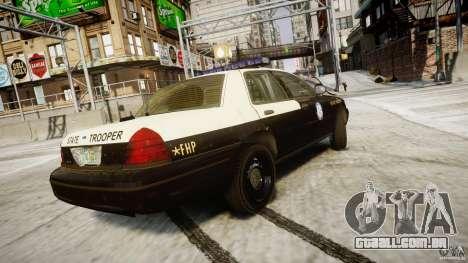 Ford Crown Victoria Fl Highway Patrol Units ELS para GTA 4 vista superior