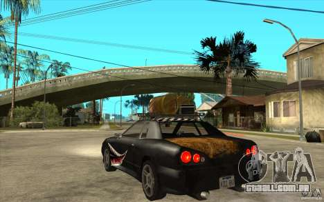 Elegy Rost Style para GTA San Andreas traseira esquerda vista