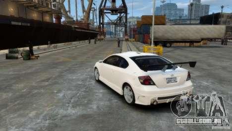 Toyota Scion para GTA 4 vista direita