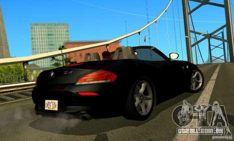 BMW Z4 2010 para GTA San Andreas vista interior
