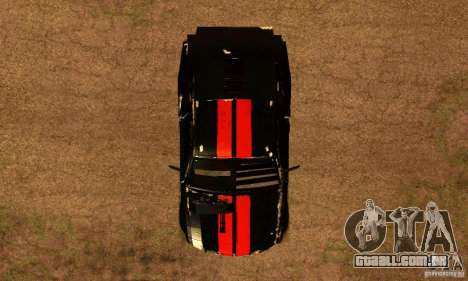 Ford Mustang Shelby GT500 From Death Race Script para GTA San Andreas vista direita