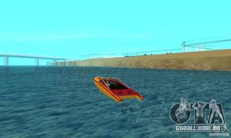 GTAIV Jetmax para GTA San Andreas traseira esquerda vista