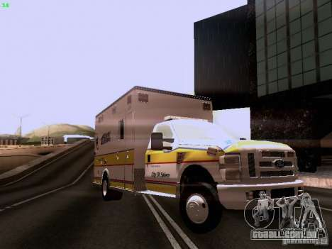 Ford F-350 Ambulance para GTA San Andreas vista direita