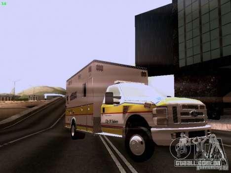 Ford F-350 Ambulance para GTA San Andreas vista direita