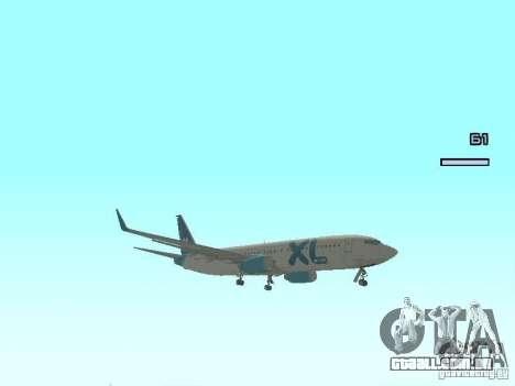 XL Airways 737-800 para GTA San Andreas esquerda vista