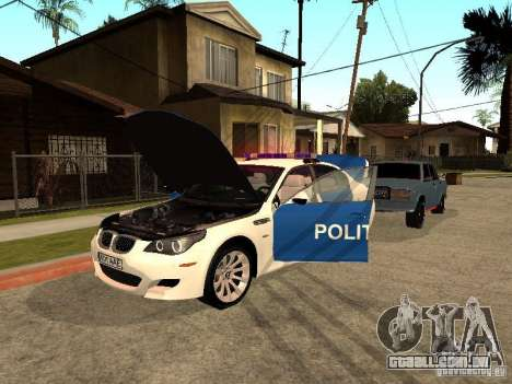 BMW 5-er Police para vista lateral GTA San Andreas