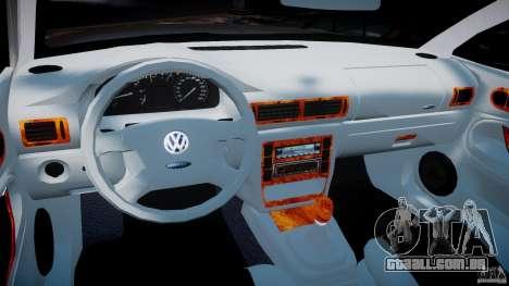 Volkswagen Passat B5 para GTA 4 vista de volta