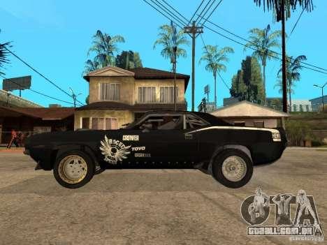 Plymouth Hemi Cuda Rogue Speed para GTA San Andreas esquerda vista
