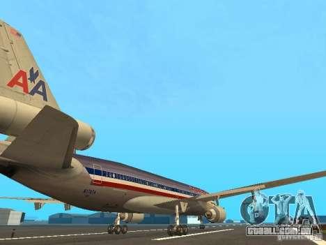 McDonell Douglas MD11 American Airlines para GTA San Andreas vista direita