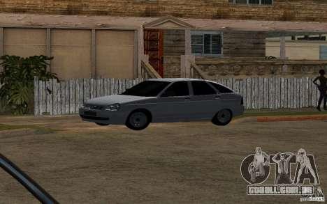 Hatchback tuning luz de LADA priora para GTA San Andreas vista traseira