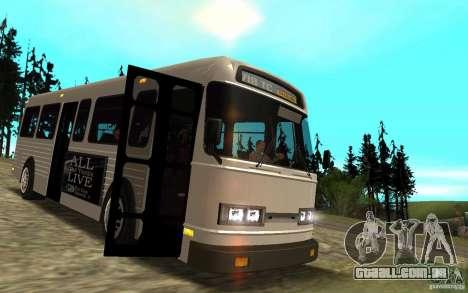 NFS Undercover Bus para GTA San Andreas vista interior