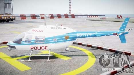 Bell 206 B - Chicago Police Helicopter para GTA 4 esquerda vista