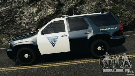 Chevrolet Tahoe Marked Unit [ELS] para GTA 4 esquerda vista