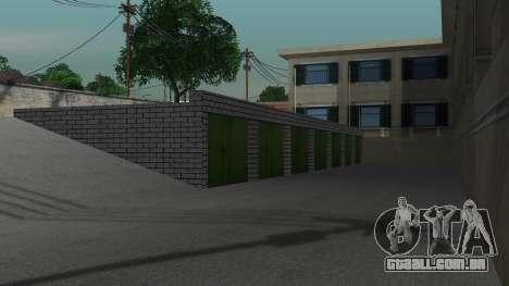 Estrutura de garagens e edifícios em SF para GTA San Andreas sexta tela