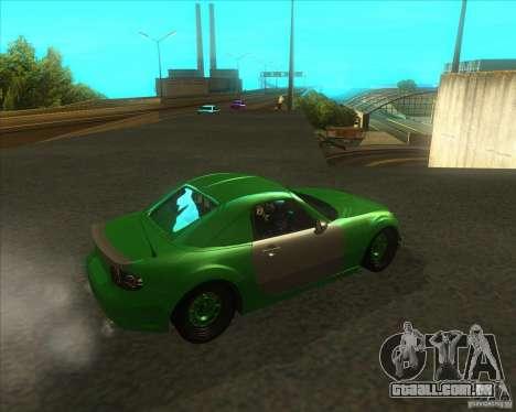 Mazda Miata MX-5 Konguard 2007 para GTA San Andreas vista direita