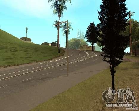 Novas estradas em Vinewoode (Los Santos) para GTA San Andreas segunda tela