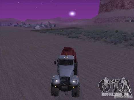 Caminhão de combustível KrAZ-255 para GTA San Andreas vista direita